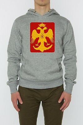 Byzantine Eagle Red And Yellow Art Unisex Hoodie Grey (S-XXL)