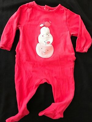 Obaibi Organic Cotton Drop Seat Footie Hot Pink - 6 Months