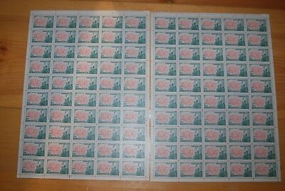 Weeda Canada 475, 475i VF MNH panes of 50, DF & Fluorescent papers CV $67.50