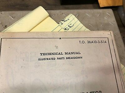 vintage ordinance to36a10-3-5-14 ma2 aircraft towing tractor manual