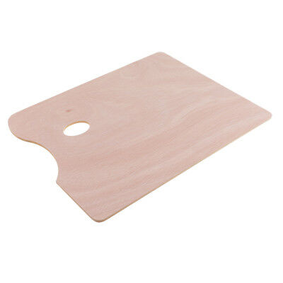 WOODEN ARTIST PAINTING PALETTE MIXING Tray WITH HOLE Oil PAINT Mixing TRAY