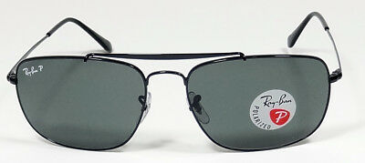 5293fb2bbf Ray Ban Polarized Colonel Icons Black Steel G-15 Flat Sunglasses Rb3560  002 58