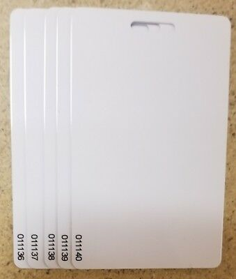 10 Keycards Proximity Prox Card w/ Slot- Works with HID® 1326 1386 H10301