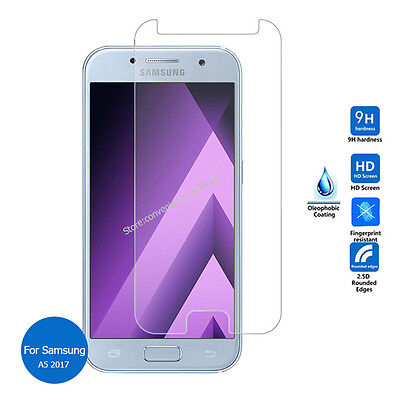 (2 Packs) Premium Tempered Glass Screen Protector for Samsung A5 2017