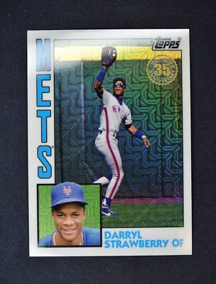 2019 Topps Series 1 1984 Silver Pack Chrome Base #T84-30 Darryl Strawberry