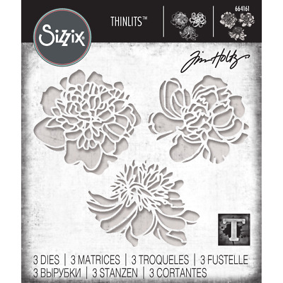 Tim Holtz Thinlits Dies by Sizzix - CutOut Blossoms - PreOrder Late Feb