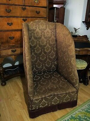 Late 19th Century Early 20th Century Upholstered Porters Chair