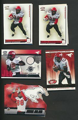 2003 Pacific Atomic CFL Calgary Stampeders Team Lot of 44 Parallels Rare Inserts