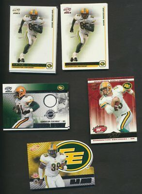 2003 Pacific Atomic CFL Edmonton Eskimos  Team Lot of 51 Parallels  Rare Inserts