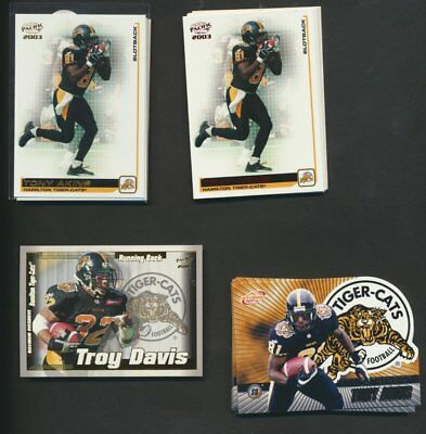2003 Pacific Atomic CFL Hamilton Tiger Cats Team Lot of 41 Parallels Rare Insert