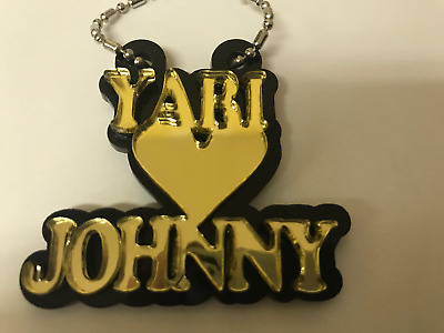 966f8c3879 Personalized Couple Name Necklace Double Name Plate 2 Names Heart LaserCut  Order