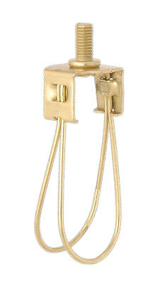 TORPEDO BULB ~ BRASS CLIP ON LAMP SHADE ADAPTER for Candelabra Bulbs ~ by PLD