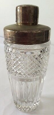 Vintage Heavy Crystal Glass Drink Mixer/Shaker