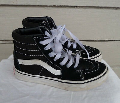 787ab66debf0c6 VANS BOYS KID BLACK SKATER SHOES HIGH TOP 1.0 YOUTH sneakers OFF THE WALL  WHITE