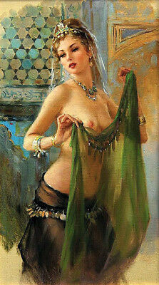 Naked dancer Oil Painting Giclee Art Printed on canvas L2012