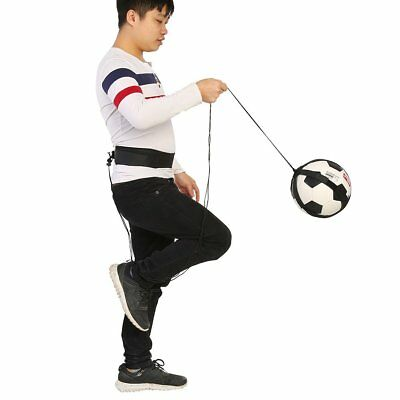 Football Kick Trainer Skills Soccer Training Aid Self Equipment Waist Belt Black