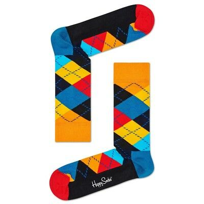 Happy Socks Neu Unisex Argyle Socken - Blau/Multi Neu mit Etikett