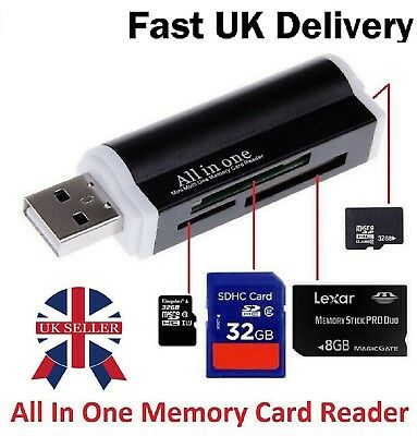 All in One USB Memory Card Reader Adapter for Memory Stick Ms Pro Duo SDXC SDHC