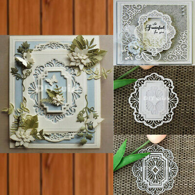 5pcs/set Polygon Frame Metal Cutting Dies Lace Frame Scrapbook Album Decor Craft