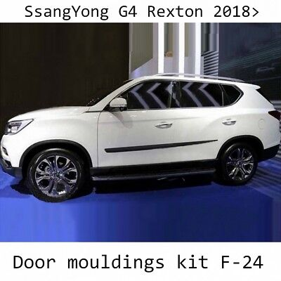 Body Side Mouldings Door Molding Protector Trim Cover fit Ssangyong Rexton 2018-