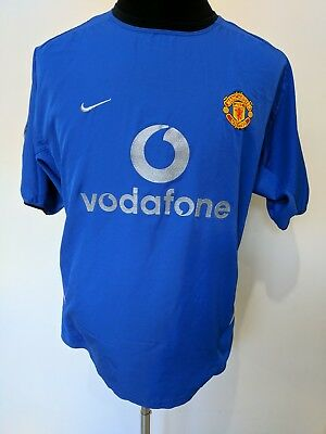 2002 2003 Manchester United Man Utd UCL away Scholes 18 football shirt jersey XL