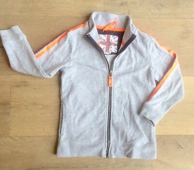 Mini Boden 5-6 yrs boy long-sleeved jacket cardigan zipped jumper top grey