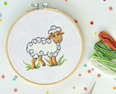 """Key Strap /""""Pea-Baby/"""" Small cross stitch kits good for beginner"""