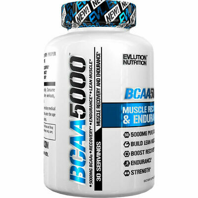 Evlution Nutrition BCAA 5000 - EVL Branched Chain Amino Acids - 240 Capsules AUS