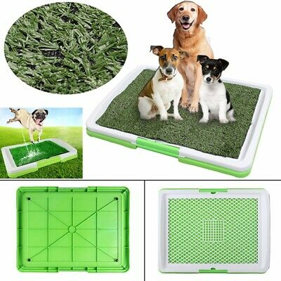 3 Layers Large Dog Pet Potty Indoor Training Pee Pad Mat Puppy Tray Grass Toilet