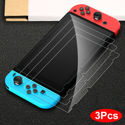 For Nintendo Switch Premium Tempered Glass Screen Protector - HD Clear (3 Pack)