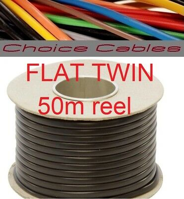 50M Reel 4.5mm 42Amp 2 Core Twin Thinwall Cable Wire Automotive Auto Marine