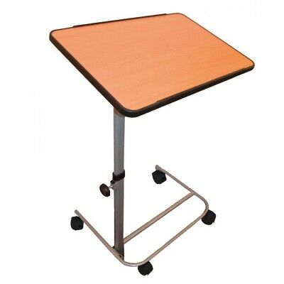 Over Bed or chair table with large height and angle adjustable top overbed