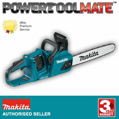 Makita DUC355Z Twin 18v 36v Cordless Chainsaw 35cm Bar Body Only