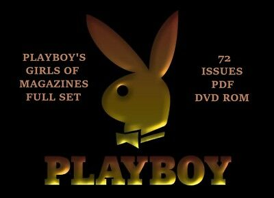 Playboy's Girls Of  Magazines Full Set  72 Issues In PDF on DVD ROM
