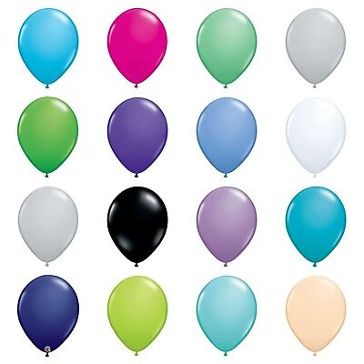 "5,10,25 or 50 QUALATEX 5"" or 11"" LATEX BALLOONS Plain Fashion Solid Colours"