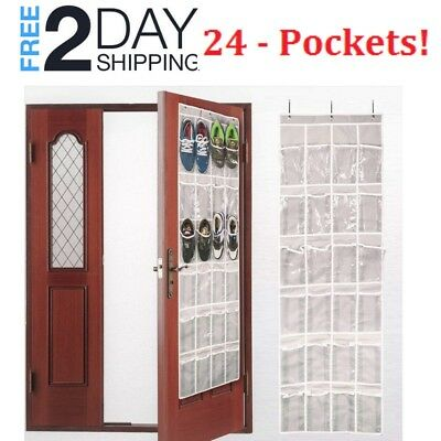 Over-the-Door Hanging Pantry Organizer and Kitchen Storage Unit with 24 Pockets