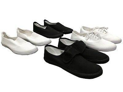 Back To School Boys Girls Unisex Adult Pe Gym Sports Pumps Plimsolls Shoes Sizes
