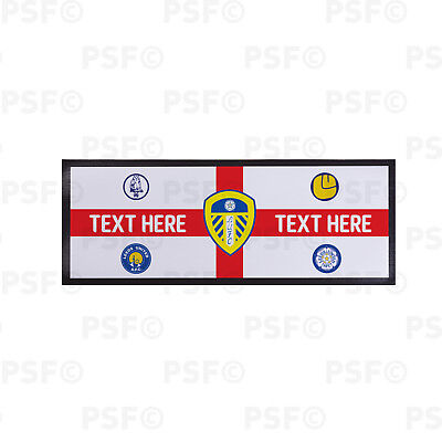 Leeds United FC Official Personalised St George Flag Badges Bar Runner LBR010