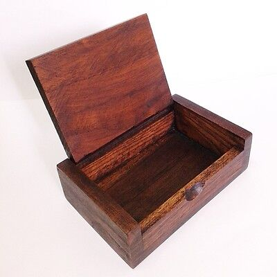 Wooden Name Business Card Case Holder Storage Handmade Jewelry Gift Souvenir Box