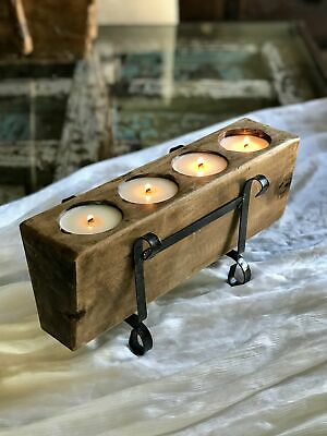 Vintage Wooden Sugar Mold Candle Centerpiece