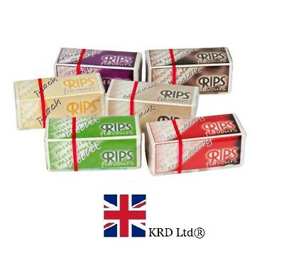 Flavoured 4m RIPS ROLLS Fruity Flavor Cigarette Rolling Papers Multi Choice UK