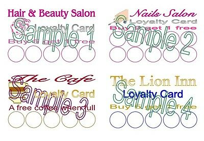 Loyalty Cards 50 Personalised Designed