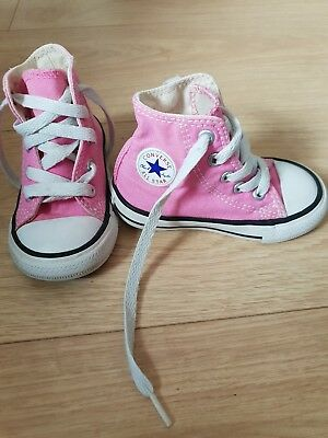 c3155f5fc379 GIRLS UK INFANT Size 5 Low Rise Converse Trainers Shoes Pink - £4.00 ...