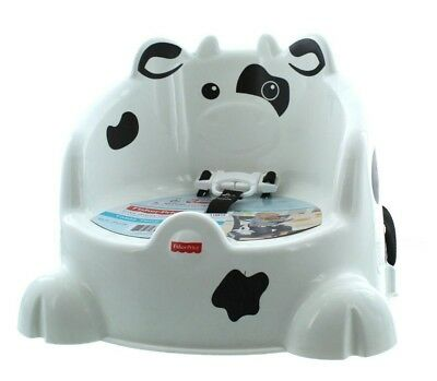 Fisher Price Baby Toddler Table Time Cow Adjustable Travel Booster Seat