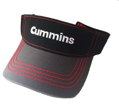 reputable site 971b0 00dd8 Cummins Diesel Engines Contrast Visor Black   Red Chino Twill Golf Cap