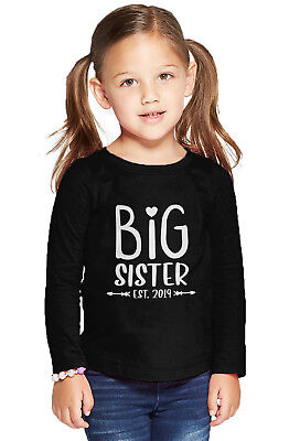 Big Sister Est. 2019 - Older Sis Sibling Coming Soon Long Slv. T-Shirt