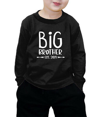 Big Brother Est. 2019 - Older Bro Sibling Coming Soon Long Slv. T-Shirt
