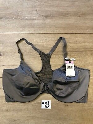60ca2c9c10f Lilyette Elegant Lift and Smooth Front Close T Back Bra 0830 42D Gray NWT  #158