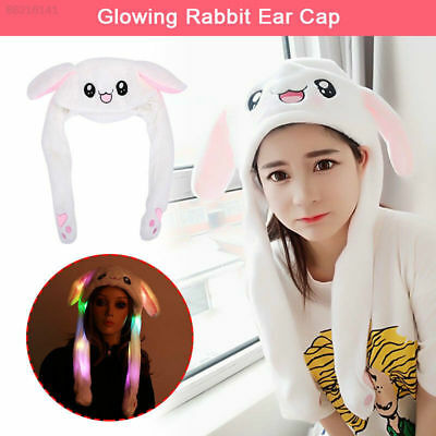 New Light Up Bunny Hat With Moving Ears Led Partys Fancy Dress Concerts Rabbit
