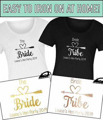 Hen Do Party Bride Tribe To Be Personalised 2019 Iron On Transfer T-Shirt Vinyl